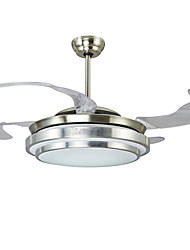 cheap -1-Light Ecolight™ 107 cm LED Ceiling Fan Metal Nickel Modern Contemporary 110-120V / 220-240V