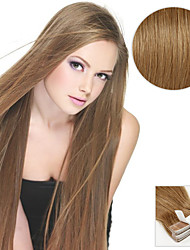 cheap -Tape In Human Hair Extensions Straight Human Hair Human Hair Extensions Women's Ash Brown