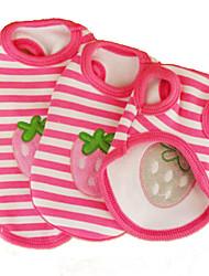 cheap -Cat Dog Shirt / T-Shirt Dog Clothes Pink Costume Cotton Stripes Fruit Cosplay Wedding XS S M