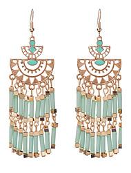 cheap -Women's Drop Earrings fan earrings Chandelier Ladies Tassel Bohemian Fashion Euramerican Boho Resin Earrings Jewelry Red / Blue / Light Green For Casual