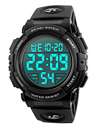 cheap -SKMEI Men's Sport Watch Military Watch Wrist Watch Japanese Silicone Black / Blue / Silver 50 m Water Resistant / Waterproof Alarm Calendar / date / day Digital Fashion - Red Green Blue Two Years