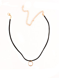 cheap -Women's Choker Necklace Personalized Basic Simple Style Fashion Copper Gold Necklace Jewelry For Party Special Occasion Business Daily Casual Sports