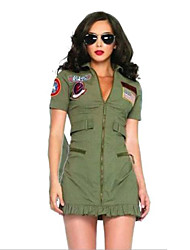 cheap -Soldier / Warrior Cosplay Costume Women's Halloween Carnival Festival / Holiday Women's Carnival Costumes Fashion