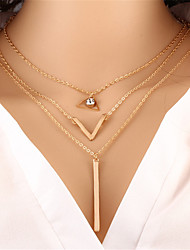 cheap -Women's Pendant Necklace Chain Necklace Unique Design Dangling Elegant Bohemian Crystal Zinc Alloy Gold Necklace Jewelry For Christmas Gifts Party Special Occasion Anniversary Birthday Congratulations