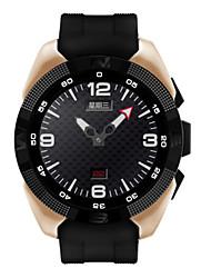 Недорогие -Муж. Спортивные часы Смарт Часы Цифровой Стеганная ПУ кожа Черный Пульсомер GPS Аналого-цифровые Золотой Черный Серебряный / Нержавеющая сталь