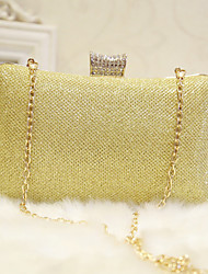 cheap -Women's Faux Leather Evening Bag Wedding Bags Solid Colored Black / Champagne / Gold