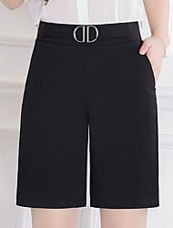 cheap -Women's Plus Size Daily Loose / Relaxed Pants - Solid Colored Sequins / Split / Pure Color Black M L XL