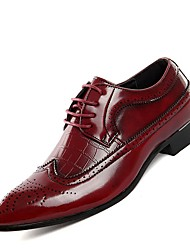 cheap -Men's Brogue Leather Spring / Summer Oxfords Black / Red / Blue / Comfort Shoes