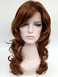 cheap -natural blonde brown synthetic wigs for women costume women wig