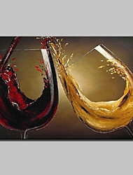 cheap -Oil Painting Hand Painted - Still Life Modern European Style Stretched Canvas
