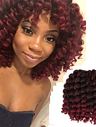 cheap -Curly Bouncy Curl Classic Pre-loop Crochet Braids Ombre Synthetic Hair Braids Braiding Hair 20 Roots / Pack