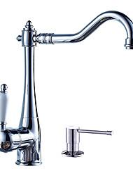 cheap -Kitchen faucet - Single Handle One Hole Centerset Contemporary