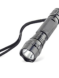cheap -LED Flashlights / Torch 1000 lm LED - 1 Emitters 3 Mode Nonslip grip Super Light Camping / Hiking / Caving Everyday Use Cycling / Bike / Aluminum Alloy