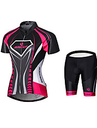 cheap -Malciklo Women's Cycling Jersey with Shorts Plus Size Bike Jersey Tights Clothing Suit Sports Bamboo-carbon Fiber Coolmax® Mesh Patchwork Mountain Bike MTB Road Bike Cycling Clothing Apparel