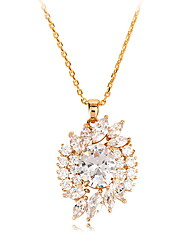 cheap -Women's Pendant Necklace Ladies Unique Design Fashion Euramerican Zircon Alloy Gold Silver Necklace Jewelry For Wedding Party Birthday Congratulations Party / Evening