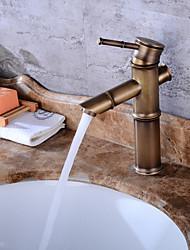 cheap -Contemporary Ceramic Valve One Hole Antique Copper, Bathroom Sink Faucet Bath Taps