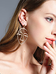 cheap -Women's Drop Earrings Hollow Out Ladies Unique Design Earrings Jewelry Gold / Silver For Christmas Gifts Party Special Occasion Anniversary Birthday Congratulations