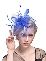 cheap -Tulle Fascinators with Feather 1 Event / Party Headpiece
