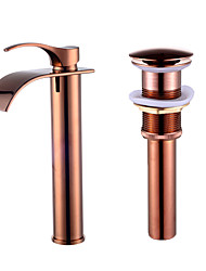 cheap -Beautiful Contemporary Ceramic Valve Single Handle One Hole Rose Gold, Faucet Set