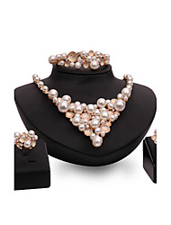 cheap -Women's Jewelry Set Statement Ladies Personalized Vintage Fashion Euramerican Imitation Pearl Rose Gold Plated Earrings Jewelry Gold For Wedding Party Special Occasion Congratulations