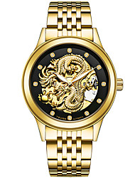 cheap -Men's Sport Watch Skeleton Watch Military Watch Japanese Automatic self-winding Stainless Steel Silver / Gold / Multi-Colored 30 m Calendar / date / day Creative Imitation Diamond Analog Charm Luxury