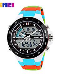 cheap -Men's Sport Watch Skeleton Watch Military Watch Quartz Digital Silicone Multi-Colored 30 m Water Resistant / Waterproof Alarm Calendar / date / day Analog - Digital Ladies Charm Luxury Classic Casual