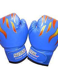 cheap -Boxing Bag Gloves Boxing Training Gloves Boxing Gloves For Boxing Mixed Martial Arts (MMA) Full Finger Gloves Protective Leather Kid's Men's - Black Red Blue SUTEN®