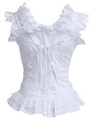 cheap -Classic Lolita Dress Corset Girls' Cotton Japanese Cosplay Costumes Long Sleeve