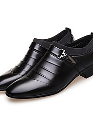 cheap -Men's Formal Shoes PU Spring / Fall Business Boots Walking Shoes Black / Brown / Wedding / Party & Evening / Rivet / Split Joint / Party & Evening