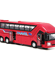 cheap -1:50 Toy Car Pull Back Vehicle Bus Bus Simulation Metal Alloy Mini Car Vehicles Toys for Party Favor or Kids Birthday Gift