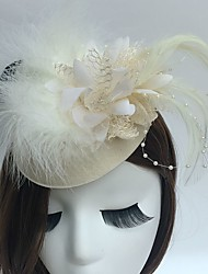 cheap -Fascinators / Hats / Headwear with Floral 1pc Special Occasion / Tea Party / Horse Race Headpiece