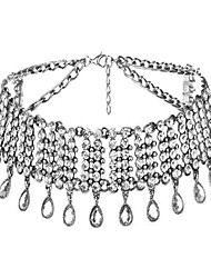 cheap -Women's Choker Necklace Tassel Drop Ladies Luxury Tassel Fashion Alloy Gold Silver Necklace Jewelry For Wedding Party Masquerade Engagement Party Prom Promise