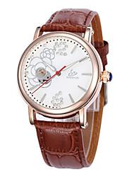 cheap -Women's Mechanical Watch Quartz Leather Black / Brown / Pink 30 m Hot Sale Analog Ladies Charm Fashion - Brown Pink Black / White
