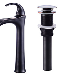 cheap -Waterfall Ceramic Valve One Hole Oil-rubbed Bronze, Faucet Set Bath Taps