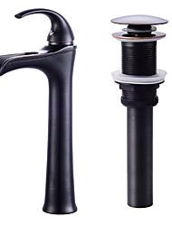 Недорогие -водопад керамический клапан одно отверстие масло-бронза, комплект смесителей для ванны