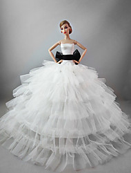 cheap -Doll Dress Wedding For Barbiedoll Satin / Tulle Lace Satin Dress For Girl's Doll Toy