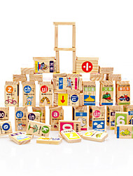 cheap -Building Blocks For Gift  Building Blocks Natural Wood 3-6 years old Toys