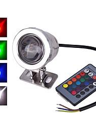 abordables -1pc 10 W Lumière Sous-marine Imperméable / Télécommandé / Décorative RVB 12 V Eclairage Extérieur / Cour / Jardin 1 Perles LED