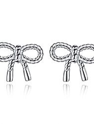 cheap -Women's Stud Earrings Bow Sterling Silver Earrings Jewelry Silver For Wedding Party Daily Casual