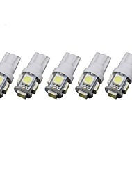 cheap -T10 Truck / Car Light Bulbs 1.5 W SMD 5050 90 lm Interior Lights For