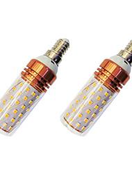 cheap -2pcs 12 W LED Corn Lights 980 lm E14 T 84 LED Beads SMD 2835 Warm White White / 2 pcs