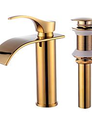 cheap -Contemporary Centerset Ceramic Valve Faucet Set