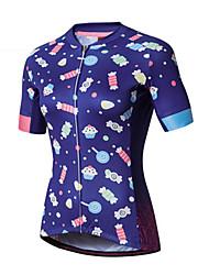 cheap -SANTIC Women's Short Sleeve Cycling Jersey Purple Bike Jersey Top Mountain Bike MTB Road Bike Cycling Sports Clothing Apparel / Advanced / Advanced / Italian Ink