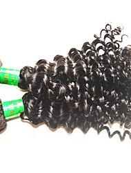 Недорогие -Натуральные волосы Пряди натуральных волос Реми Крупные кудри Индийские волосы 300 g