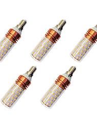 cheap -5pcs 12 W LED Corn Lights 980 lm E14 T 84 LED Beads SMD 2835 Warm White White / 5 pcs