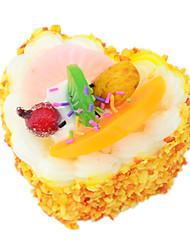 Недорогие -Игрушечная еда Сердце Торты ПВХ ПУ (полиуретан) Универсальные Игрушки Подарок