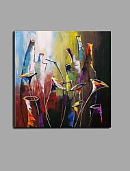 cheap -Oil Painting Hand Painted - Still Life Abstract Stretched Canvas