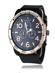 Недорогие -Муж. Спортивные часы Модные часы Кварцевый силиконовый Черный 30 m Аналоговый Белый Черный