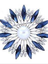 cheap -Women's Brooches Flower Brooch Jewelry White Red Dark Blue For Wedding Party Special Occasion Halloween Daily
