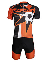 cheap -ILPALADINO Men's Short Sleeve Cycling Jersey with Shorts - Black Skull Bike Clothing Suit 3D Pad Quick Dry Ultraviolet Resistant Reflective Strips Back Pocket Sports Lycra Fashion Mountain Bike MTB